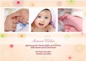 Einladungen Dankeskarten zur Taufe - Vorlagen Beispiele Taufdrucksachen