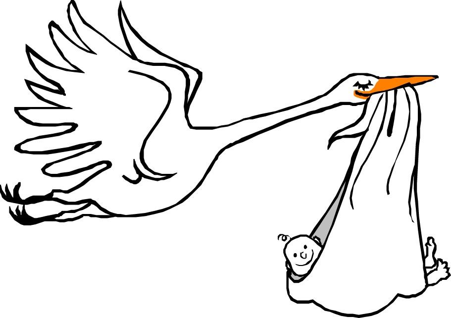 Grafiken Storch Mit Baby Bilder