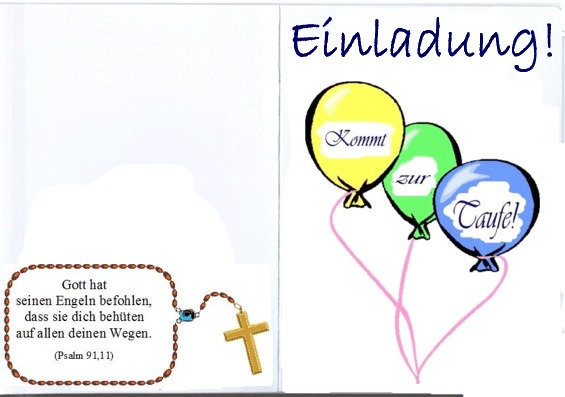 Einladungskarte Taufe Faltkarte