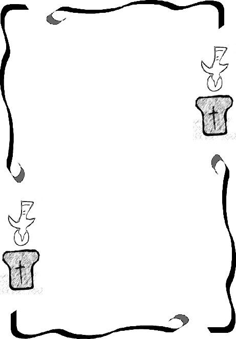 Zierrahmen mit Taufsymbolen