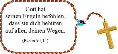 Der Psalm 91,11 als Taufspruch mit Bildern garfisch gestaltet