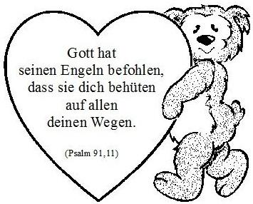 Toll Gemalter Teddy Trägt Spruch Als Herz